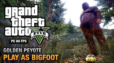 GTA 5 - Play as Bigfoot (Golden Peyote) PS4, Xbox One & PC