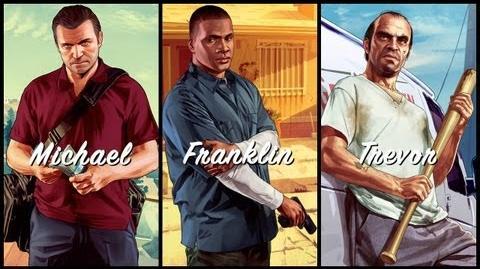 Grand Theft Auto V Michael. Franklin. Trevor