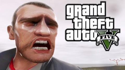 GTA V Gameplay Trailer - Niko's Dramatic Reaction