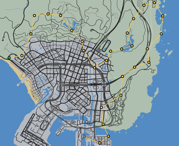 Jet Stream GTAO Race Map