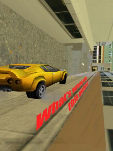 File:GTAVC What's wrong with this picture.yellow infernus wall for road.png