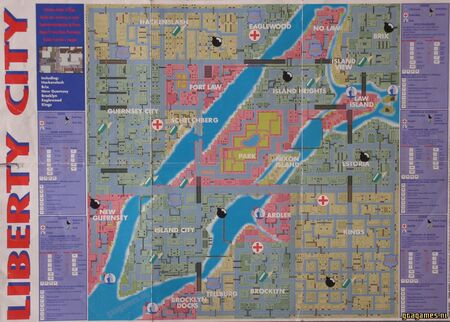 Libert City gta map