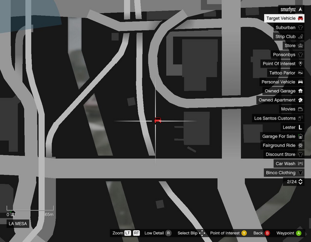 File:Destroy Vehicle Target GTAO Parked Location LaMesa.png