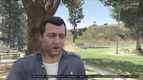 Snapmatic Selfies GTAVe Michael new expressions