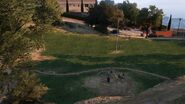 Vinewood Hills Dog Exercise Park GTAV picnic tables