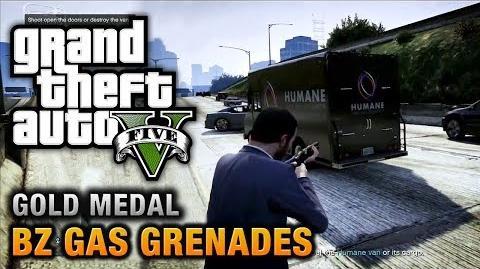 GTA 5 - Mission 15 - BZ Gas Grenades 100% Gold Medal Walkthrough