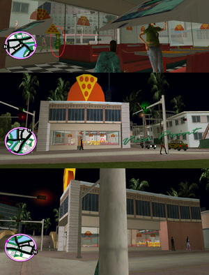GTAVC HiddenPack 26 NE corner inside North Point Pizza