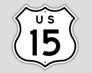 1957 Style US Route 15 Shield