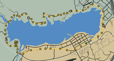 Tour The Lake GTAO Race Map