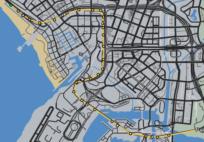The Commute GTAO Race Map