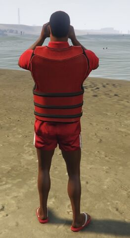 File:Lifeguard GTAVe Outfit Red tee Red shorts Back Lifevest.jpg