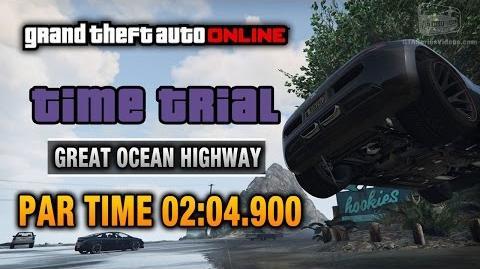 GTA Online - Time Trial 3 - Great Ocean Highway (Under Par Time)