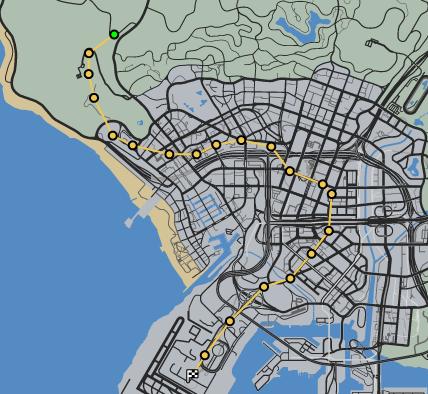 Chopper Cruise GTAO Race Map