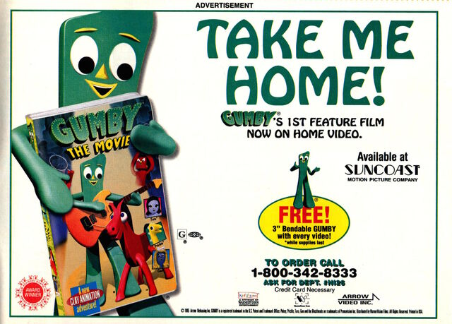 File:Nickelodeon Magazine February 1996 Gumby the Movie VHS video advertisement.jpg