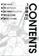 Mobile Suit Gundam in UC 0099 Moon Crisis Vol Contents01