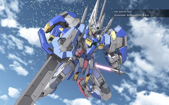 File:Gundam Avalanche Exia Sky Wallpaper Wide.jpg