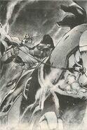 GF13-002NGR Zeus Gundam in manga