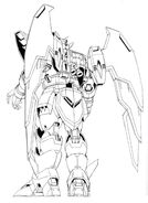 OZ-13MS Gundam Epyon Back View Lineart