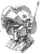 RGM-79N GM Custom - MS Head Internal View