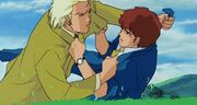 Char and amuro punching