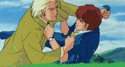 Char and amuro punching