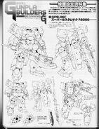 GPB-06F Super Custom Zaku F2000 - Lineart