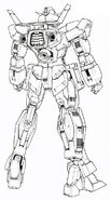 Gundam AGE1 Normal - Rear View MG Lineart