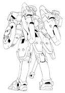 OZ-00MS Tallgeese Back View Lineart