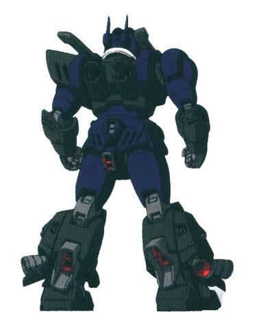 File:ZGMF-1017 GINN Gai Murakumo Custom's Rear View (without Thrusters).jpg