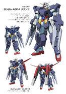 Gundam AGE-1 Glanza w Glastron launcher
