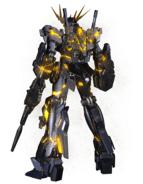 RX-0 Unicorn Gundam 02 Banshee (Destroy Mode) CG Art (Rear)