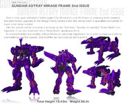 Photo MBF-P05LM2 Gundam Astray Mirage Frame 2nd Issue en