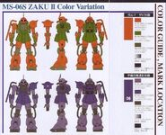 MS-06S Color Variation