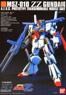 HG MSZ-010 ZZ Gundam Manual Cover