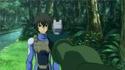 Lockon targeting Setsuna