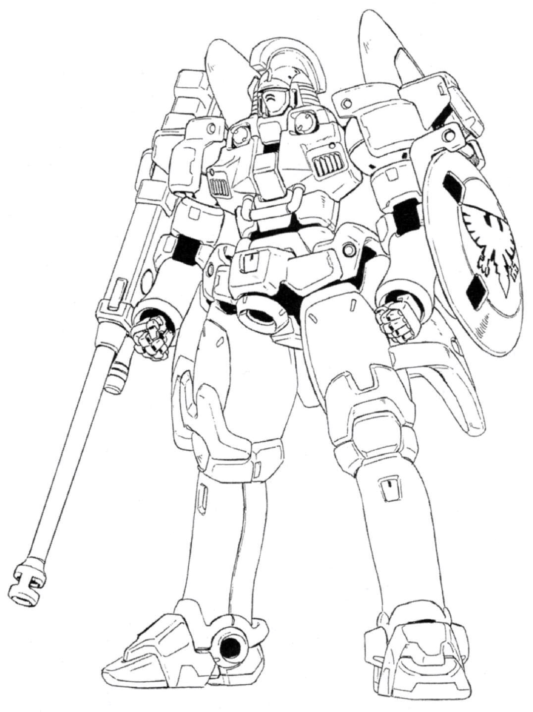 Zaku Lineart : Image oz ms tallgeese front view lineart g the