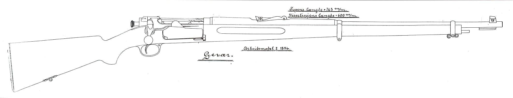 Guns Technical Drawing a Drawing of The Norwegian