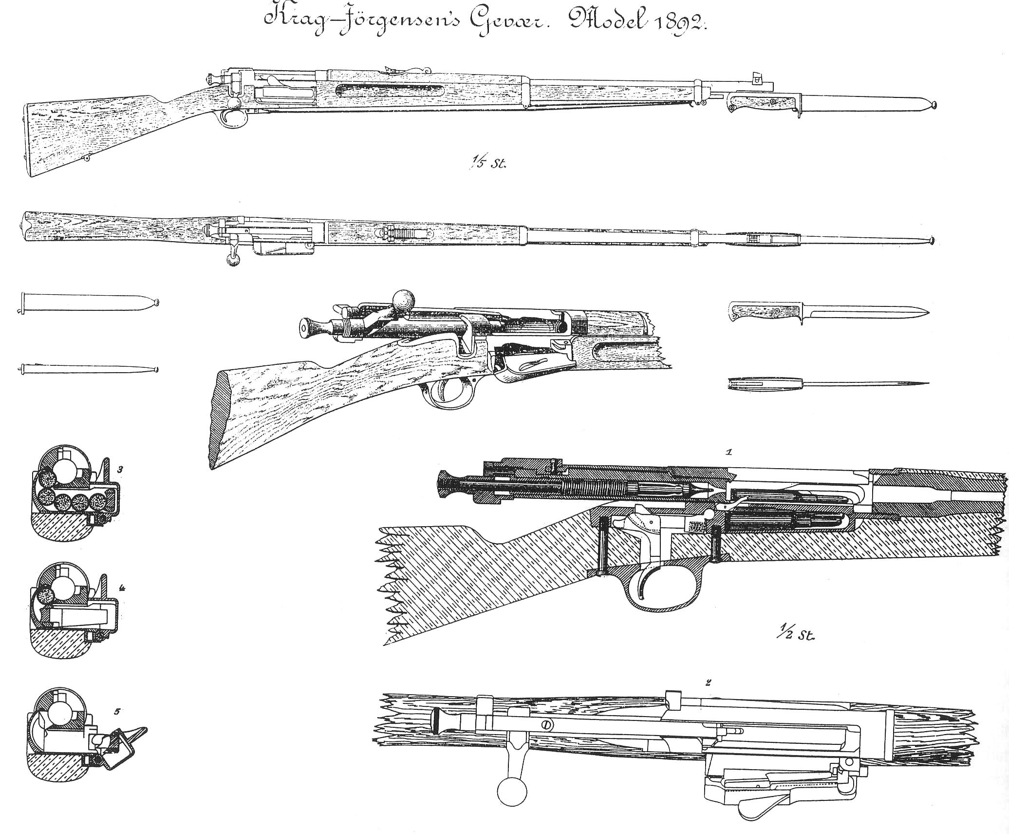 Guns Technical Drawing File:krag Jorgensen Technical