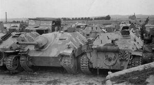 Hetzer tank destroyers 1945