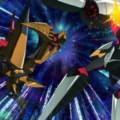 Space king kittan kicking Arc Gurren Lagann