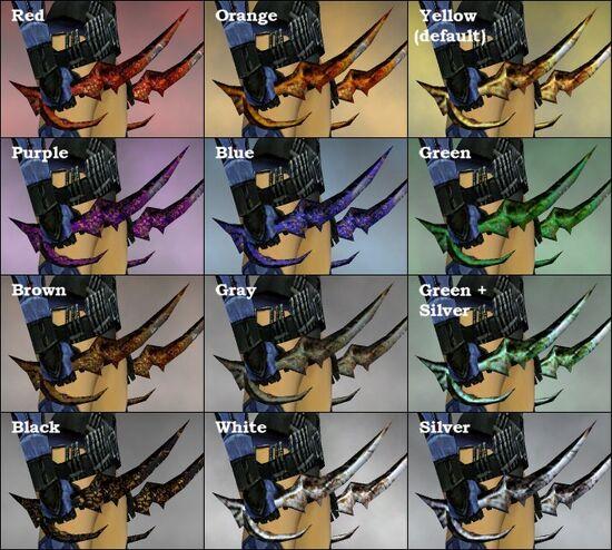 Golden Talons dye chart