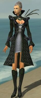 Mesmer Elite Elegant Armor F gray chest feet front