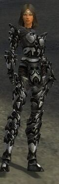 Warrior Obsidian Armor F nohelmet