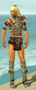 Ritualist Elite Imperial Armor M gray chest feet front