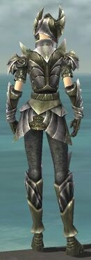 Warrior Templar Armor F gray back