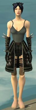 Necromancer Canthan Armor F gray arms legs front
