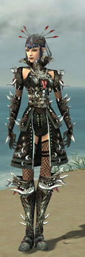 Necromancer Elite Canthan Armor F gray front