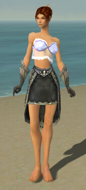 Elementalist Flameforged Armor F gray arms legs front