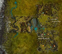 Charr Homelands map elite labelled