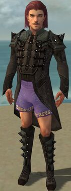 Mesmer Obsidian Armor M gray chest feet front